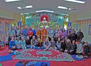 Ajahn Viradhammo and Ven Khema with OBS at Tu An Pagoda Oct 2015 R